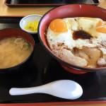 愛媛旅行で最初の食事は来島海峡SAでご当地グルメの「焼豚玉子ごはん」と「うどん」??
