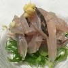 福山市内海町田島で良型のアジが釣れたのでお刺身にしてみた。