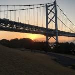 瀬戸大橋与島PAより「あけおめ」を叫ぶ。