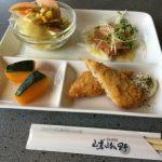 福山市南蔵王町にあるハンバーグと丼のおいしい店「嵯峨野」でランチ。いつも満席で大人気ですね。