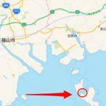 福山市・笠岡市沖のタイラバポイントは白石島と北木島に挟まれた海峡。