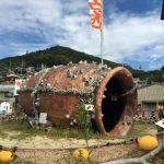 男木島にある瀬戸芸作品「タコツボル」は引きで撮ると映えますよ。